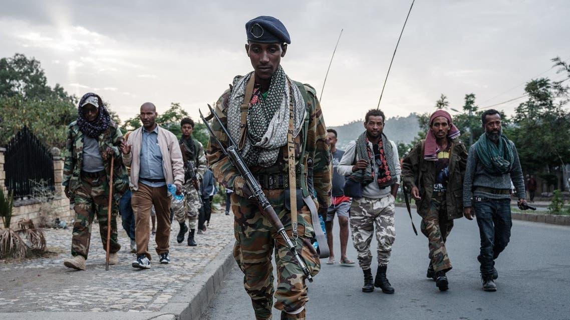 متمردون مؤيدون لجبهة تحرير شعب تيغراي في ميكيلي (أرشيفية من فرانس برس)