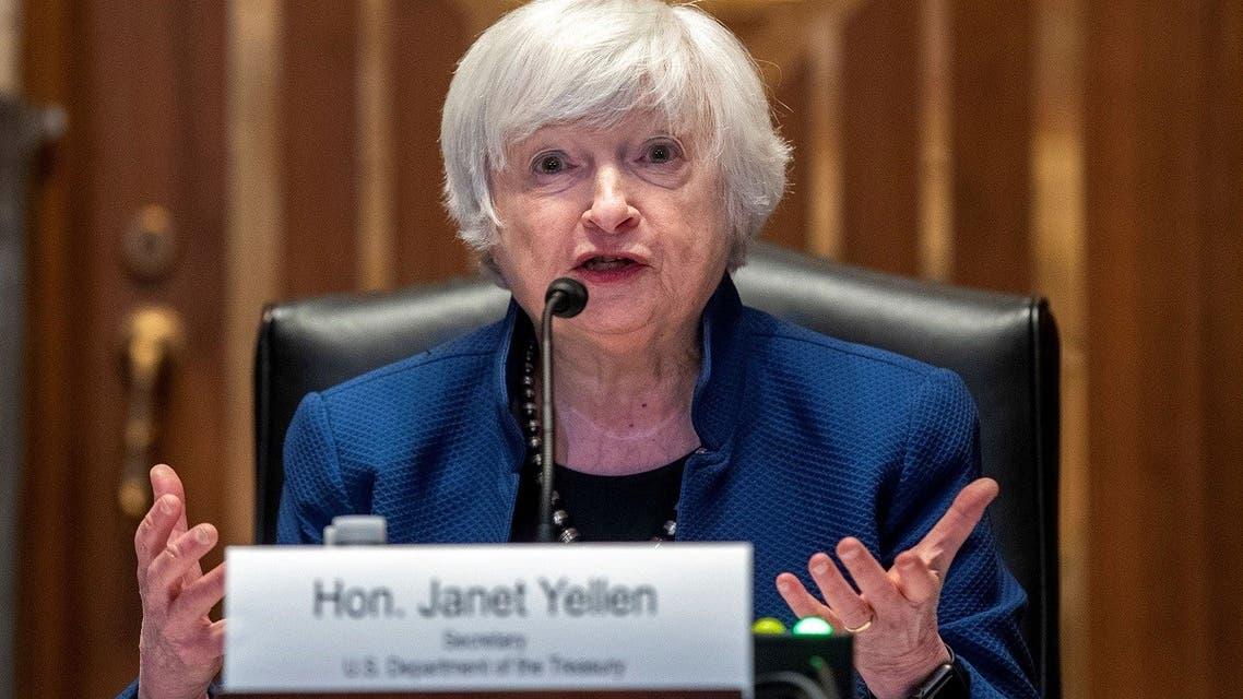 Treasury Secretary Janet Yellen testifies before the Senate Appropriations Subcommittee, June 23, 2021. (Reuters)