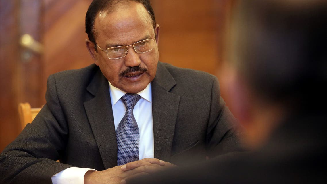 India's National Security Advisor Ajit Doval speaks during a meeting with Russian Foreign Minister Sergei Lavrov in Moscow, Russia May 10, 2018. (File photo: Reuters)
