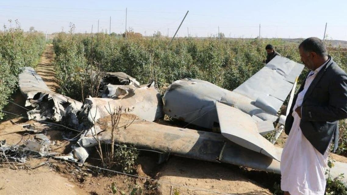A Houthi drone that was destroyed by the Arab Coalition. (File photo: Supplied)