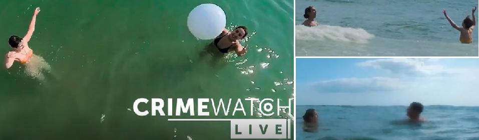 محاكاة لما روته الطفلة في البرنامج التلفزيوني، عن تقاذفها الكرة في الماء مع صديقتها، ثم اقتراب المراهق منها