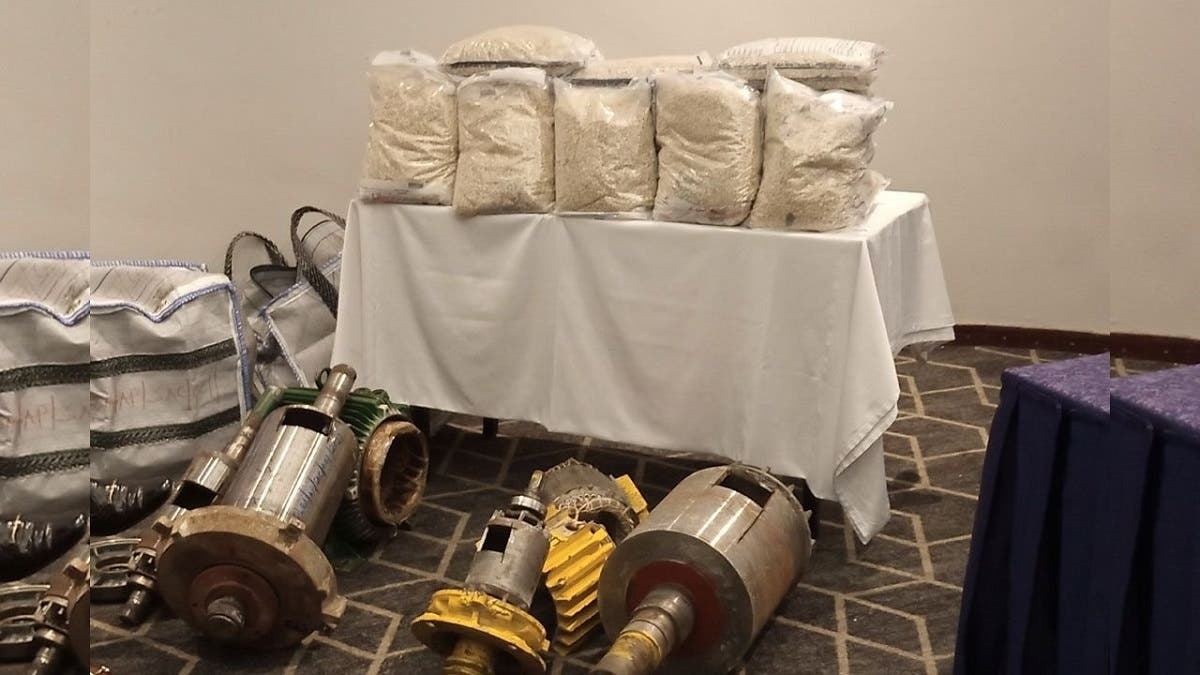 A attempt to ship Captagon pills inside machinery was foiled by Saudi authorities. (Twitter)