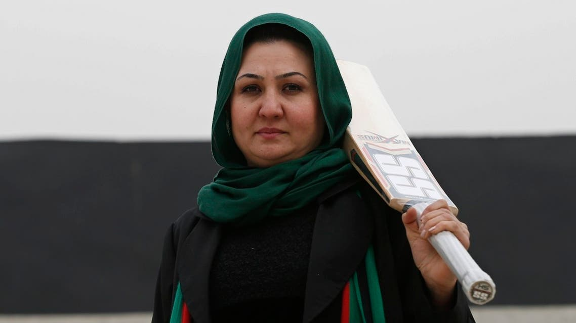 The founder of the national women's team, Afghan Diana Barakzai, poses for a picture at the Kabul Cricket Stadium. (File photo: Reuters)
