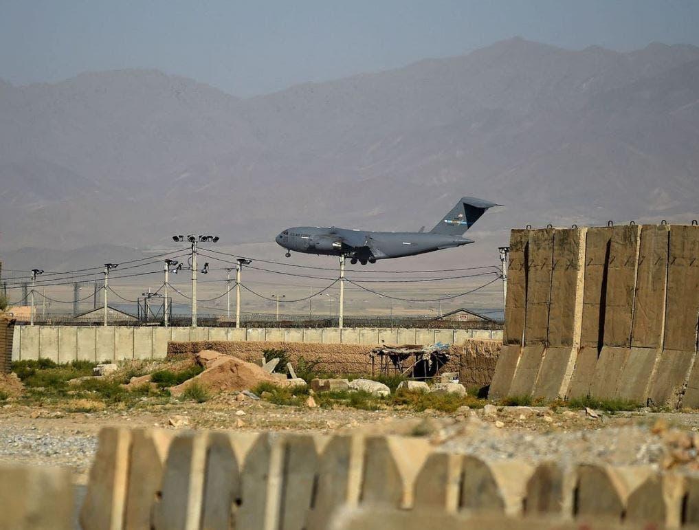 من قاعدة باغرام الجوية في أفغانستان