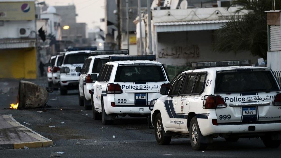 Bahraini police in the village of Shahrakkan, south of Manama. (File photo: AFP)