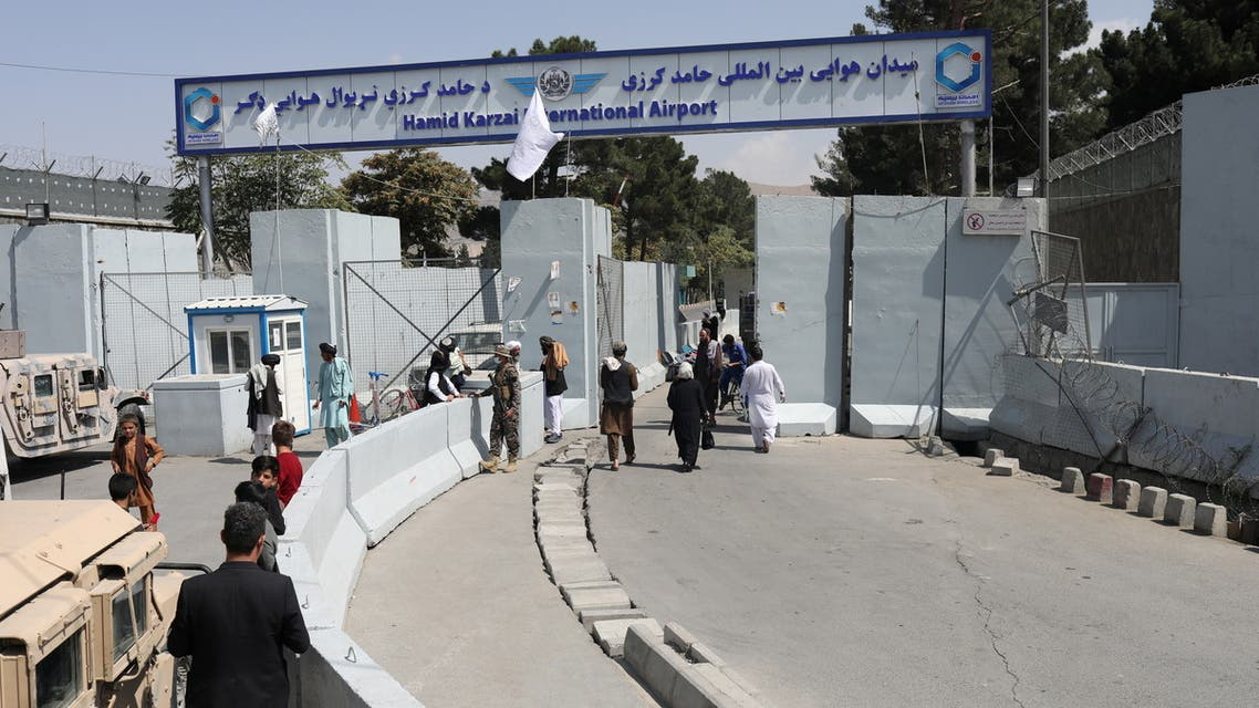 General view of an entrance gate to Hamid Karzai International Airport which has been close for the maintenance of aircrafts in Kabul, Afghanistan, September 4, 2021. (Reuters)