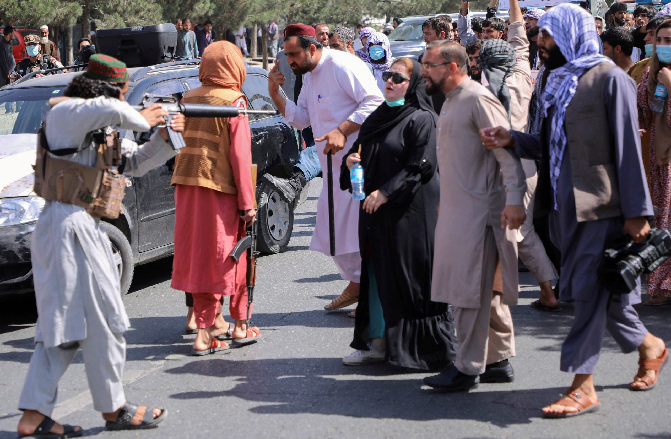 A new challenge for the movement.  Afghan protests escalate and the Taliban threaten