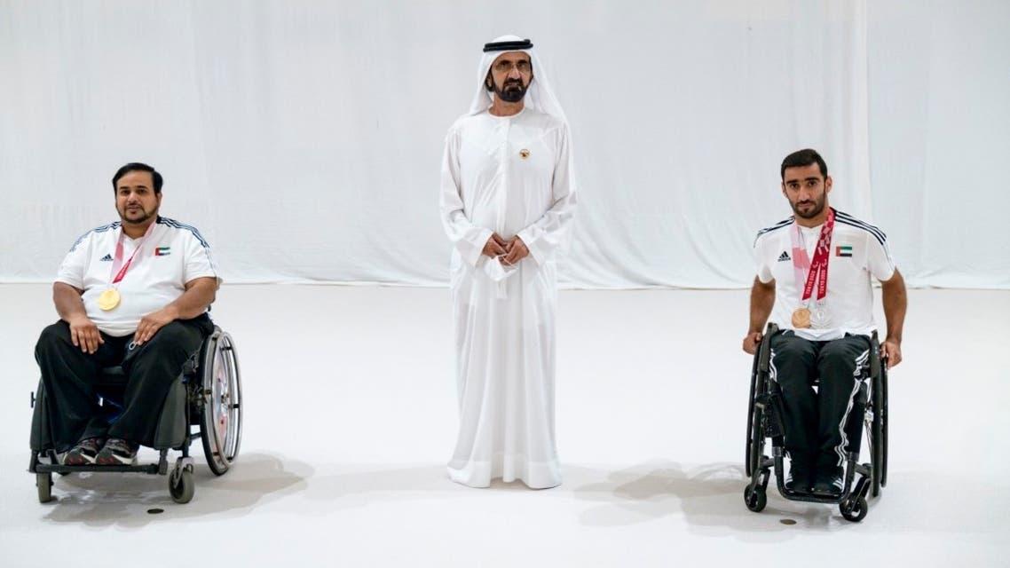 Dubai ruler Sheikh Mohammed bin Rashid has praised the United Arab Emirates Paralympic team on winning three medals. (Supplied: Wam)