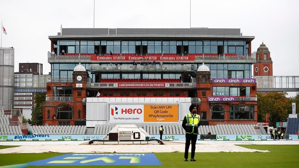 General view after the England v India  fifth Test match Emirates Old Trafford, Manchester, was cancelled on September 10, 2021 due to members of the India staff contracting COVID-19. (Reuters)
