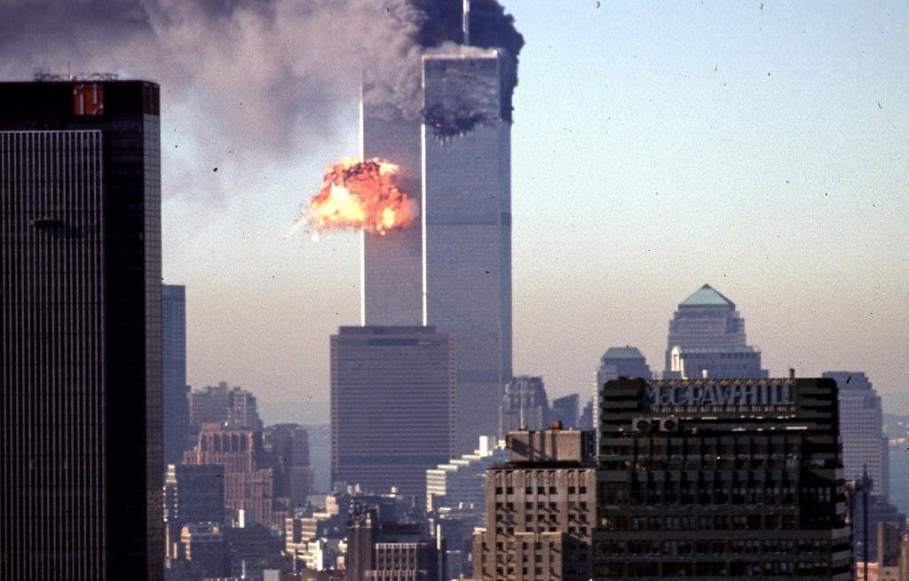 In this file photo taken on September 11, 2001, a hijacked commercial plane crashes into the World Trade Center in New York. (AFP)