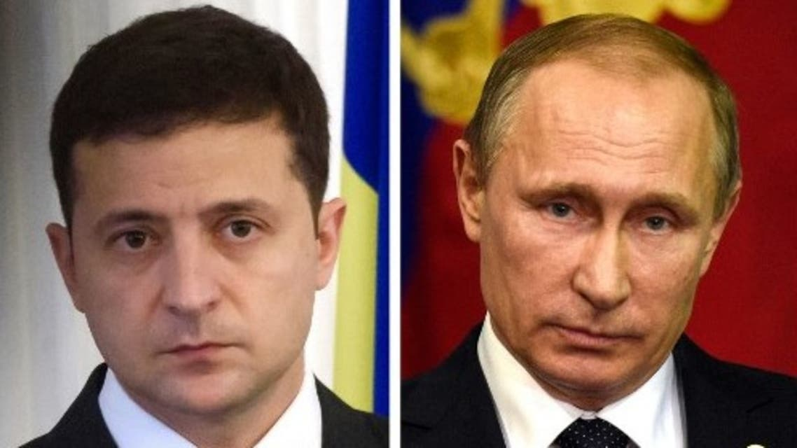 This combination of file photos shows (L) President of Ukraine Volodymyr Zelensky and (R) Russian President Vladimir Putin. (File photo: AFP)