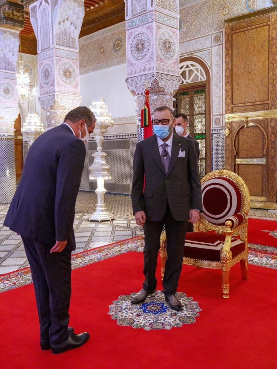 العاهل المغربي يستقبل أخنوش