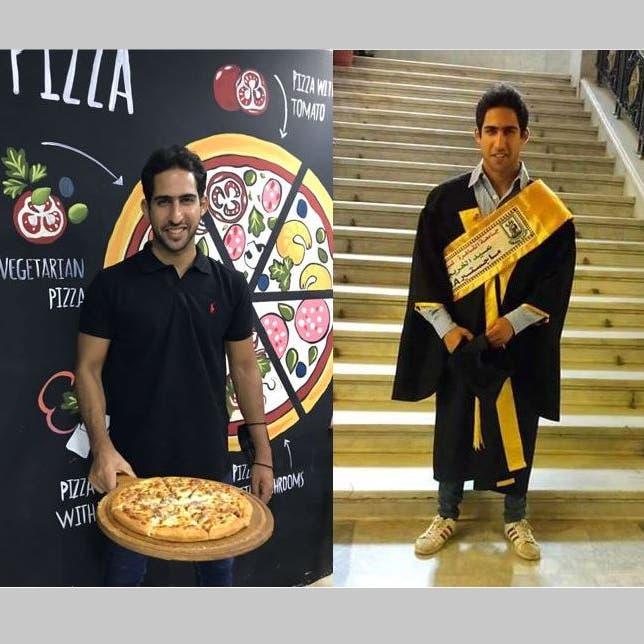 أستاذ بالجامعة نهاراً وعامل بيتزا ليلاً.. قصة ملهمة لشاب مصري