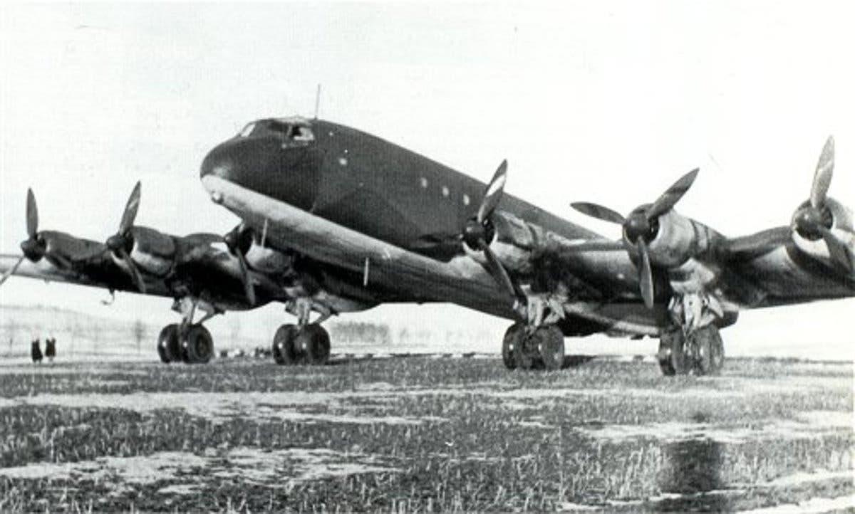 صورة لإحدى قاذفات القنابل الألمانية