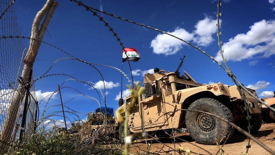 Iraqi soldiers in their vehicles hold a position on the frontline on the outskirts of Makhmur, about 280 kilometres (175 miles) north of the capital Baghdad, on March 30, 2016. (File photo: AFP)