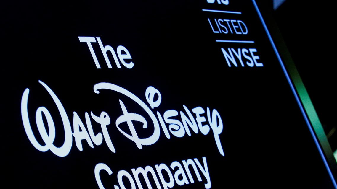 A screen shows the logo and a ticker symbol for The Walt Disney Company on the floor of the New York Stock Exchange (NYSE) in New York, US, December 14, 2017. (File photo: Reuters)