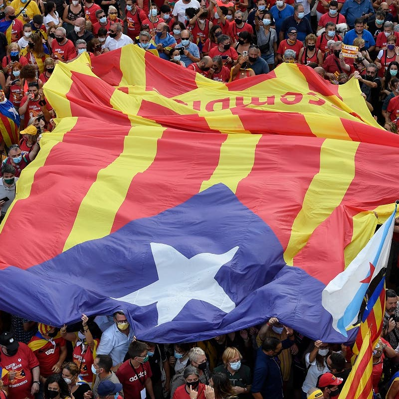 Thousands of Catalans protest in Barcelona for independence from Spain