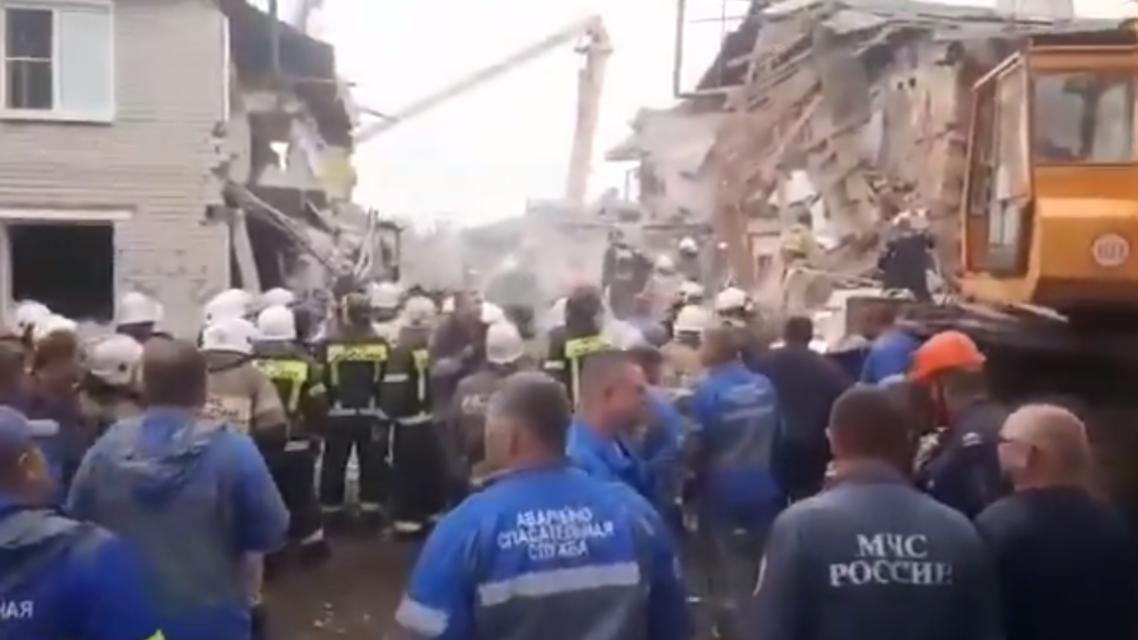 Gas explosion in Solidarnost, Russia kills 3. (Screengrab via Twitter)