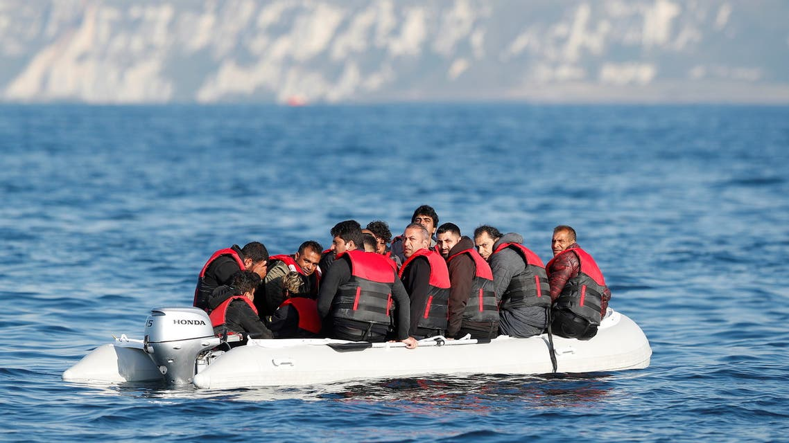 Migrants who launched from the coast of northern France cross the English Channel in an inflatable boat near Dover, Britain, August 4, 2021. Picture taken August 4, 2021. (File photo: Reuters)