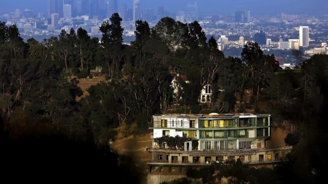 Mohamed Hadid's unfinished Bel-Air mansion, pictured in 2017. (Los Angeles Times)
