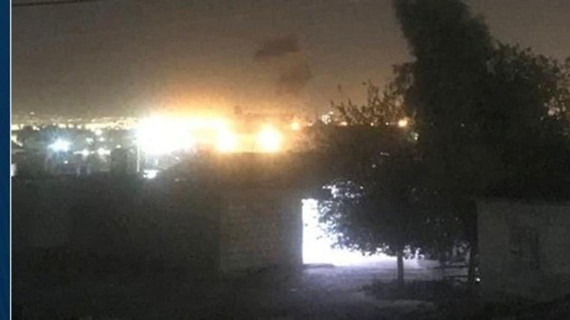 قصف على مطار أربيل