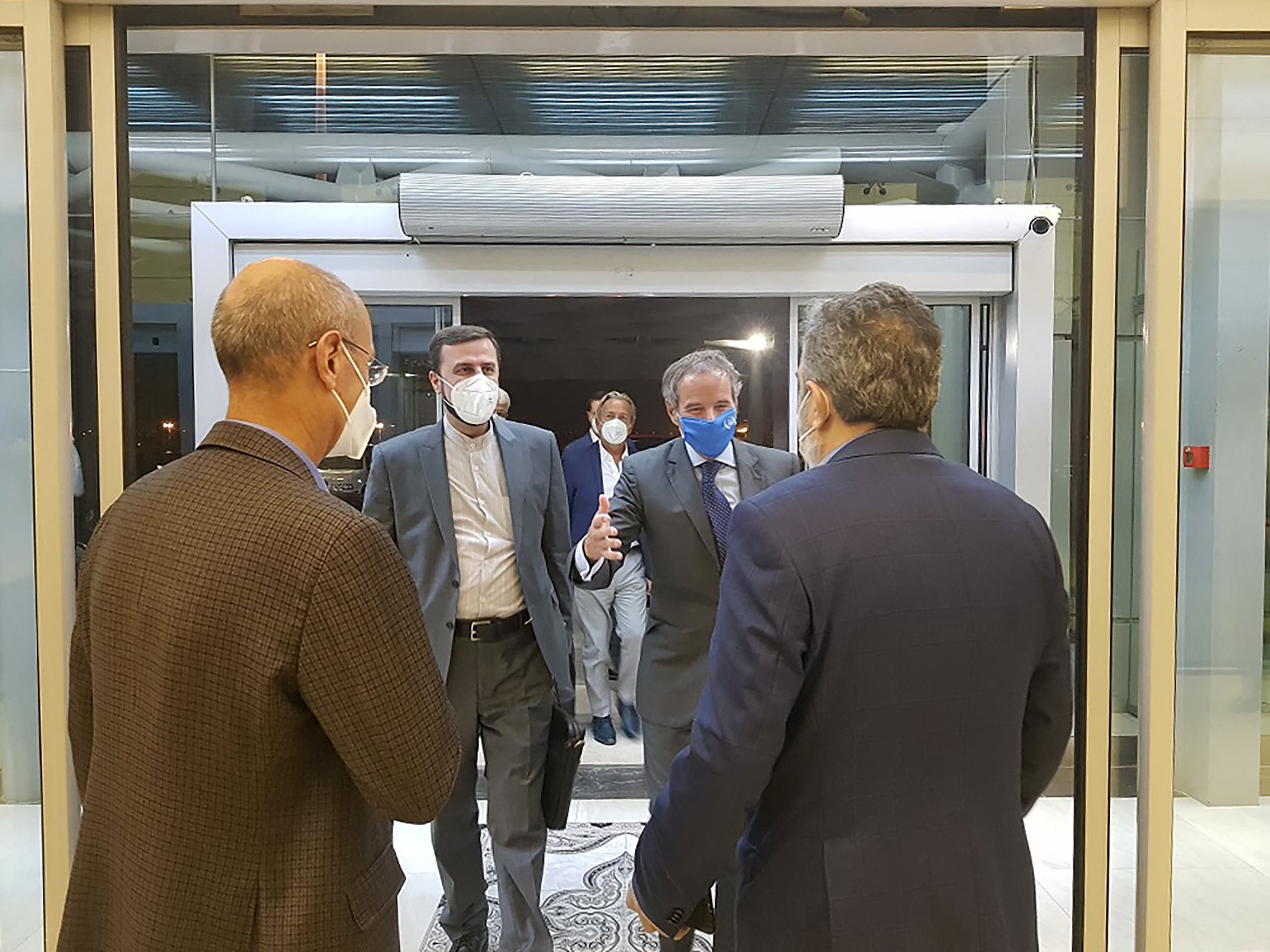 رافاييل غروسي في طهران يوم الأحد 12 سبتمبر 2021 (فرانس برس)