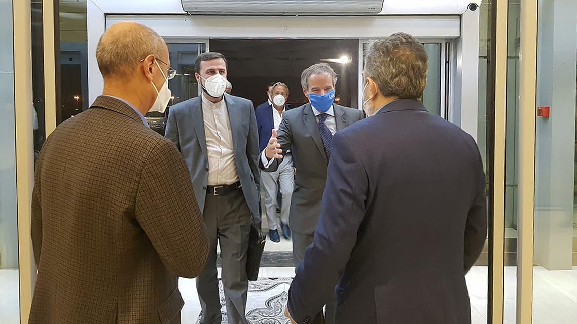 رافاييل غروسي في طهران اليوم الأحد 12 سبتمبر 2021 (فرانس برس)