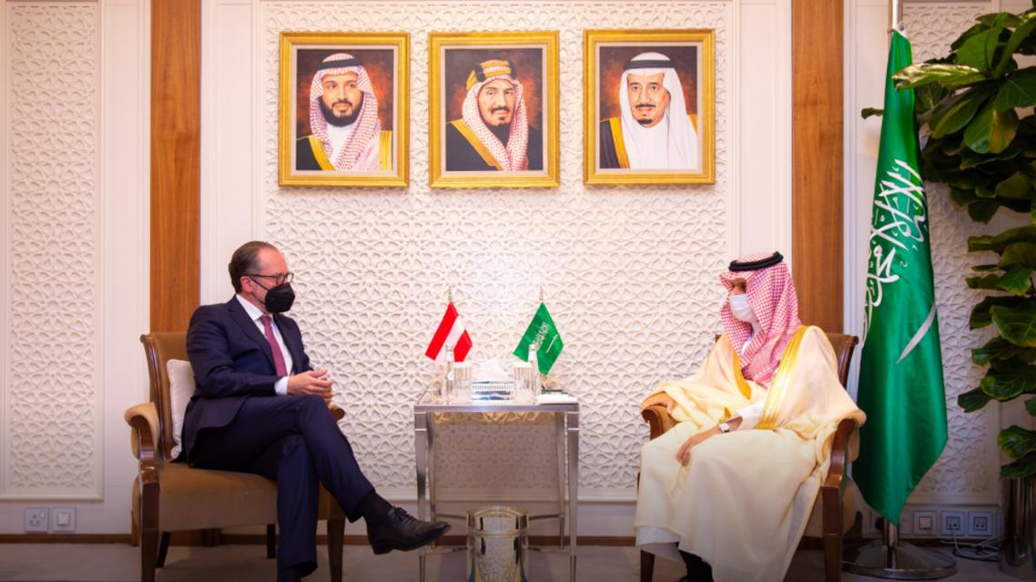 وزير الخارجية السعودية يستقبل نظيره النمساوي في الرياض (حساب وزارة الخارجية السعودية)