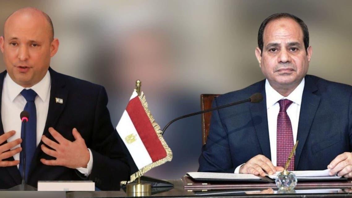 الرئيس المصري عبد الفتاح السيسي ورئيس الوزراء الإسرائيلي نفتالي بينيت