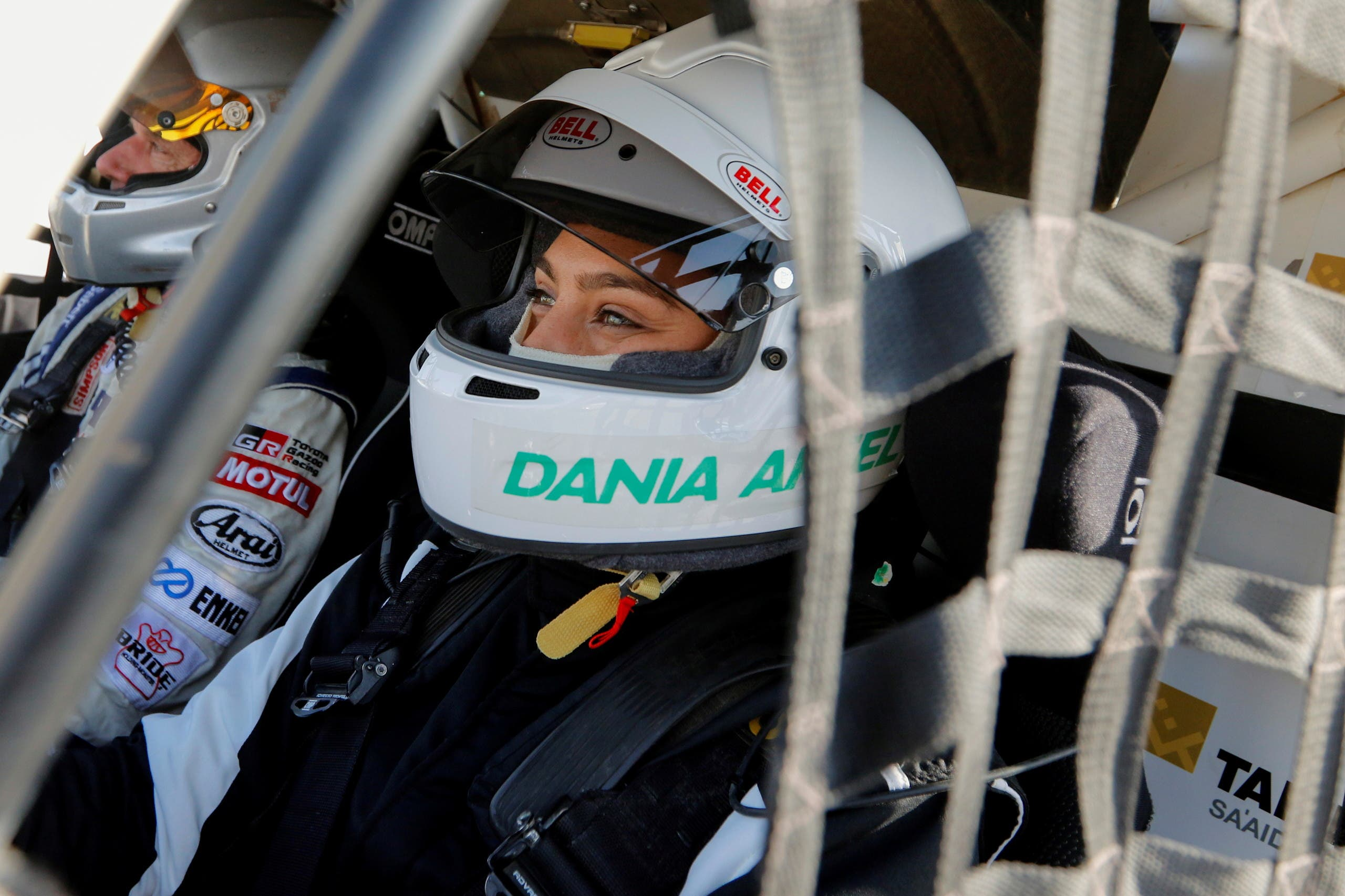 Dania Akeel became the first Arab and Saudi woman to win the 2021 FIA World Cup for Cross-Country Bajas. (Reuters)