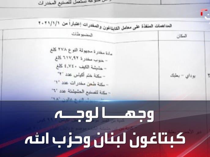 وثائق تثبت تورط حزب الله بمعامل الكبتاغون في لبنان