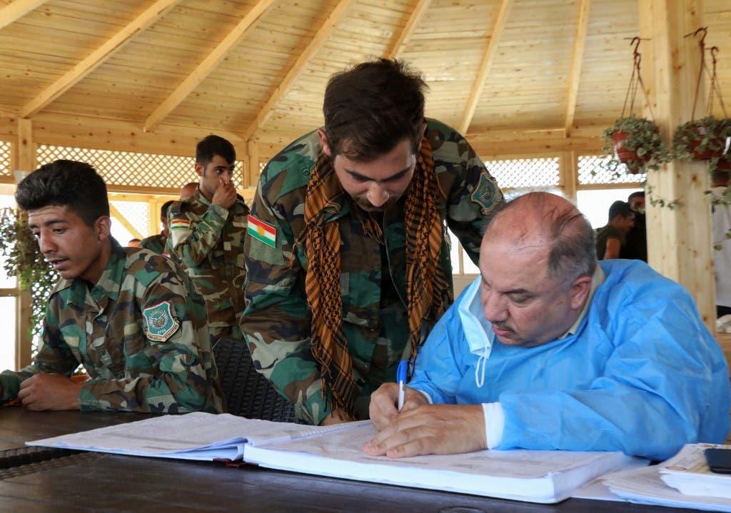 أعضاء حزب الحرية الكردي الإيراني الكردستاني (أ ف ب)