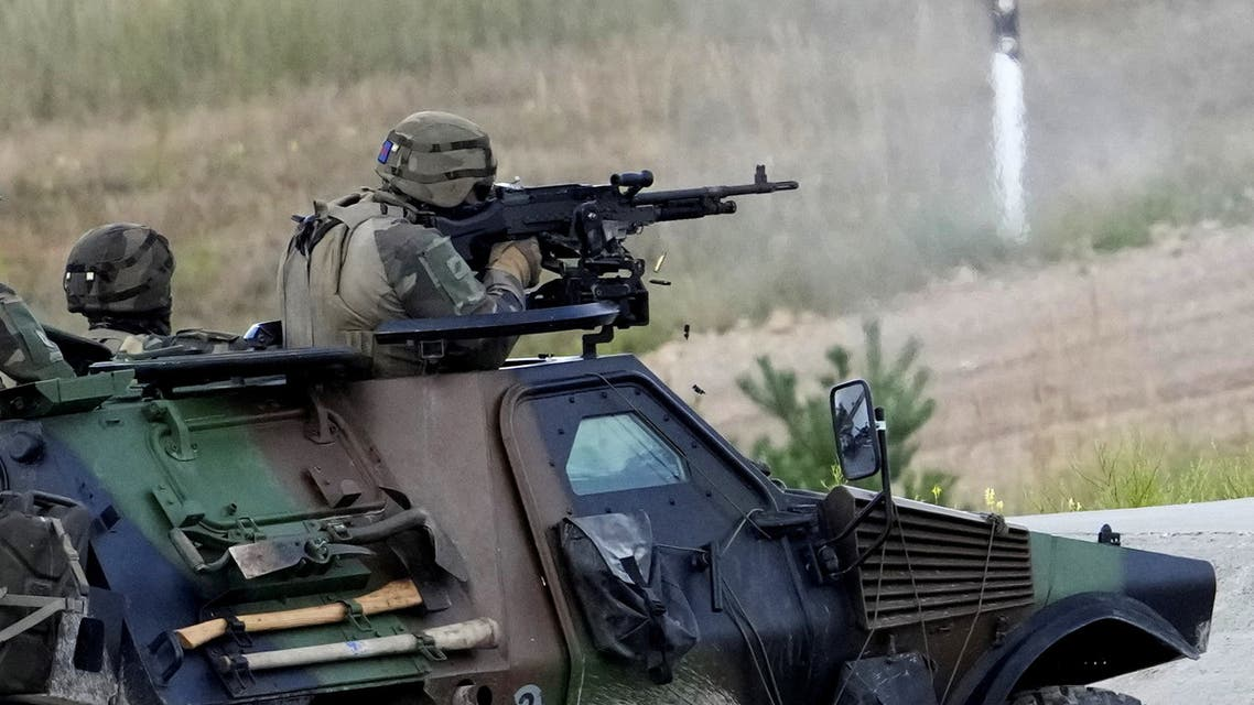 NATO Enhanced Forward Presence (EFP) French serviceman fires during a shooting exercise in Adazi military training ground, Latvia August 17, 2021. (File photo: Reuters)