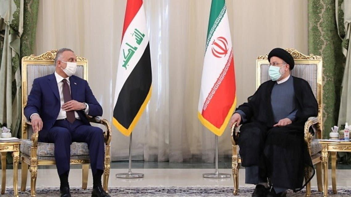 Iran's President Ebrahim Raisi meets Iraq's Prime Minister Mustafa al-Kadhimi in Tehran, Iran, September 12, 2021. (Reuters)