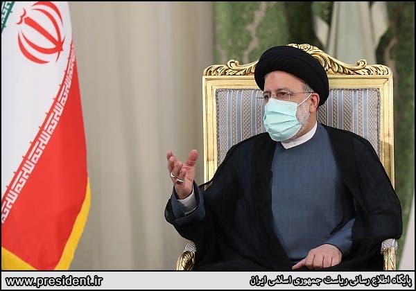 Iran's President Ebrahim Raisi meets Iraq's Prime Minister Mustafa al-Kadhimi (not in picture) in Tehran, Iran September 12, 2021. (Reuters)