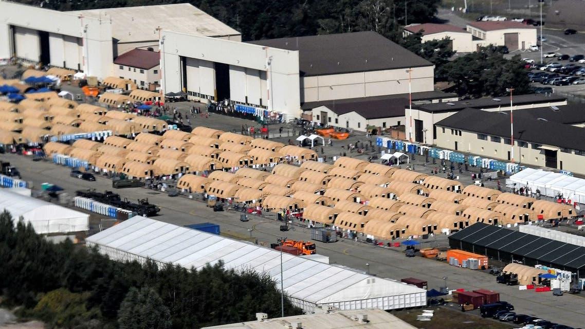 مخيم للأفغان في قاعدة رامشتاين الألمانية
