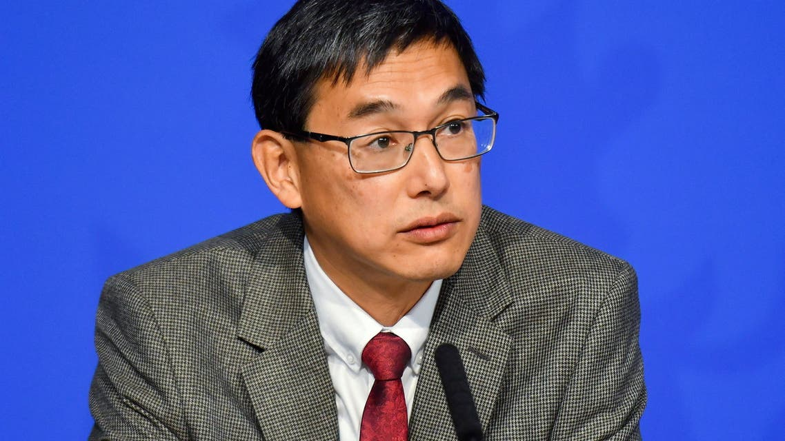 Chair of the Joint Committee on Vaccination and Immunisation (JCVI) Professor Wei Shen Lim attends a media briefing on COVID-19 at Downing Street in London, Britain September 14, 2021. (Reuters)