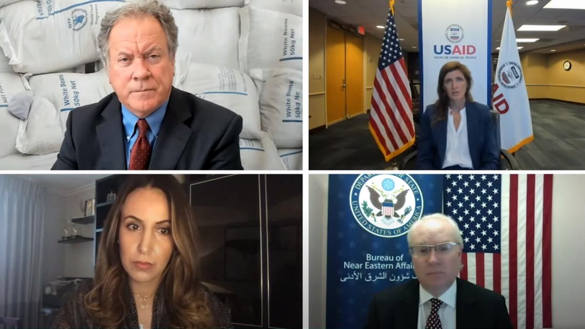 Top US officials speak about the humanitarian crisis in Yemen, Sept. 14, 2021. (Screengrab)