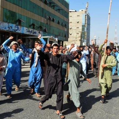 تظاهرات بقندهار ضد طالبان احتجاجاً على أوامر طرد من المساكن