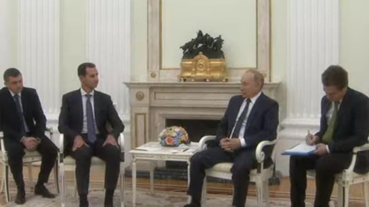 بوتين خلال لقائه الأسد: القوات الأجنبية عقبة أمام توحيد سوريا
