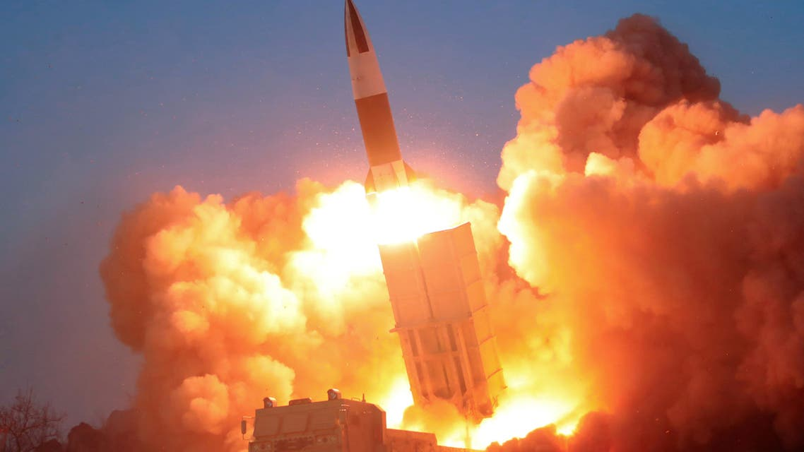 A suspected missile is fired, in this image released by North Korea's Korean Central News Agency (KCNA) on March 22, 2020. (File photo: Reuters)
