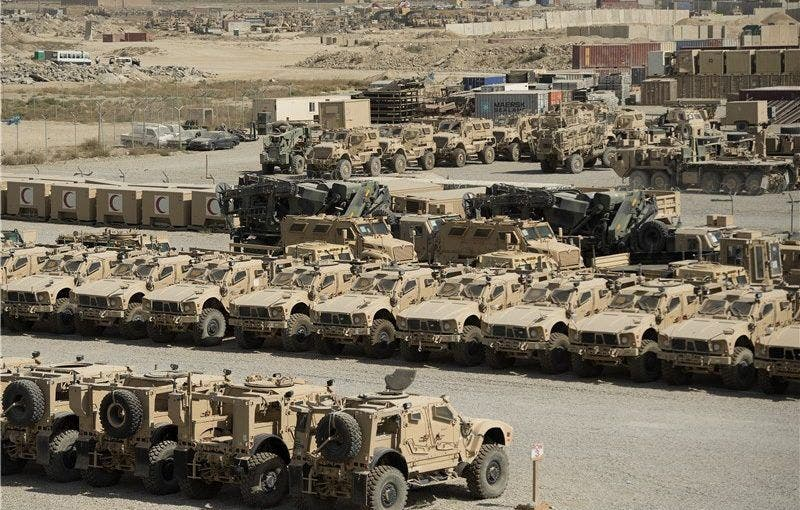 American armored vehicles seized by the Taliban