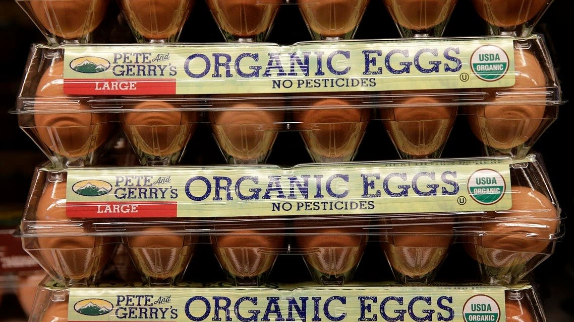 Pete and Gerry's organic eggs are seen at a store in Wheaton, Maryland. (File Photo: Reuters)