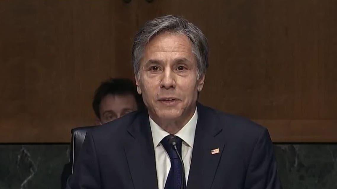US Secretary of State Antony Blinken testifies at a hearing about Afghanistan. (C-span)