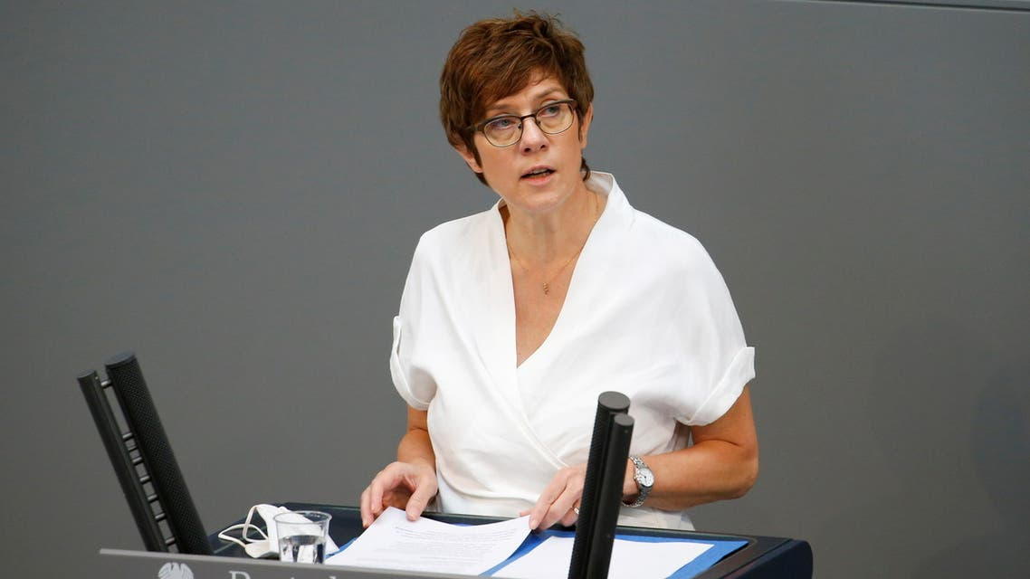 German Defense Minister Annegret Kramp-Karrenbauer speaks during the last session of the lower house of parliament Bundestag before federal elections, in Berlin, Germany, June 23, 2021. (File Photo: Reuters)