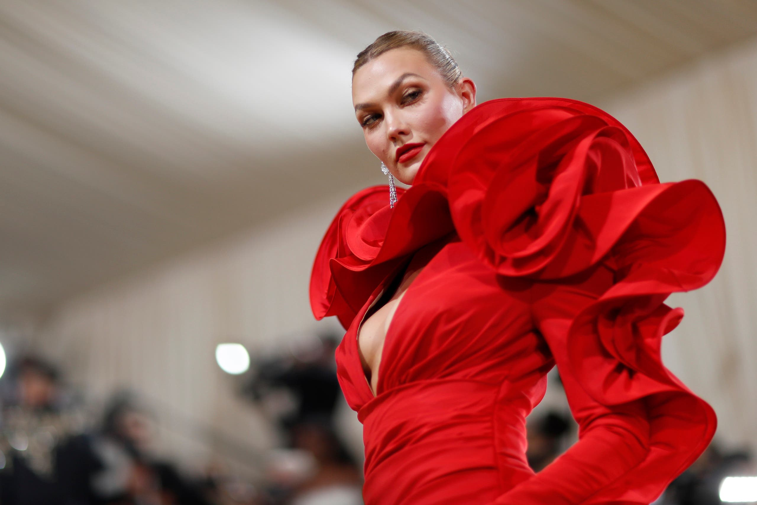Metropolitan Museum of Art Costume Institute Gala - Met Gala - In America: A Lexicon of Fashion - Arrivals - New York City, US - September 13, 2021. Karlie Kloss. (Reuters)