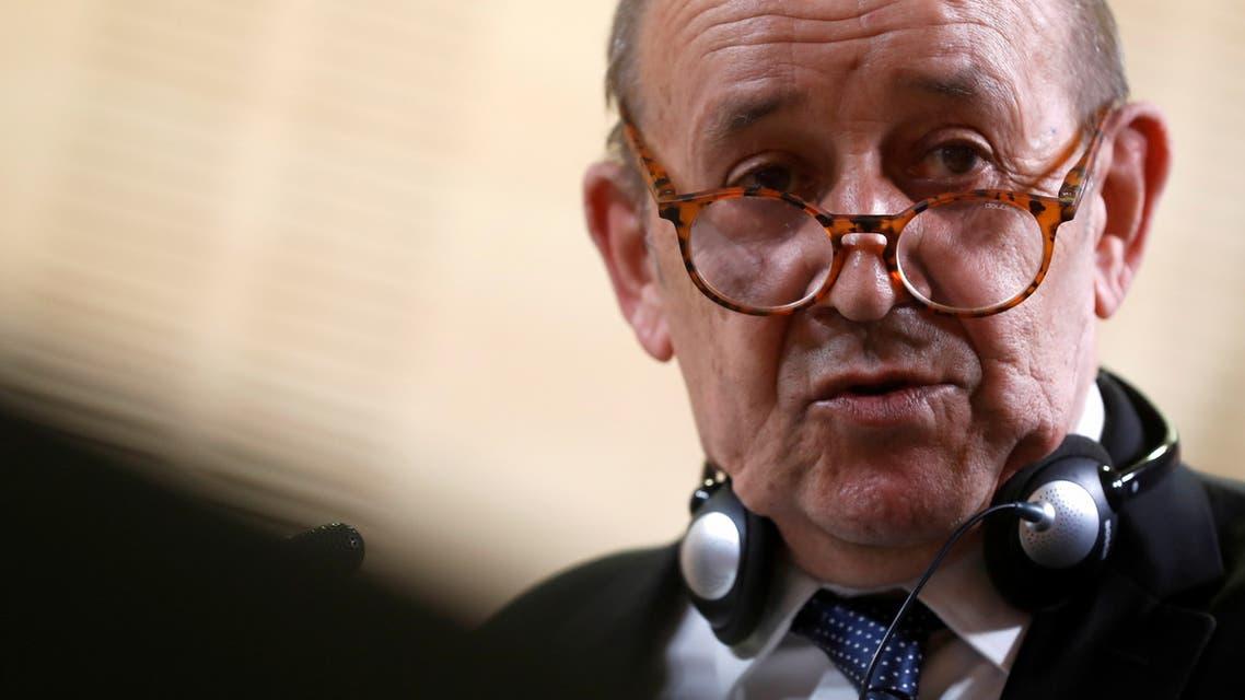 وزير الخارجية الفرنسي جان إيف لو دريان (أرشيفية- رويترز)