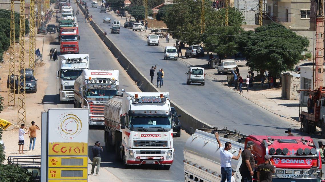 صهاريج الوقود الإيراني في لبنان (فرانس برس)
