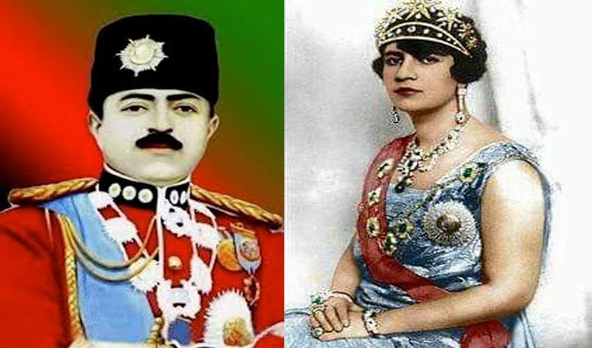 أمان الله شاه وزوجته الملكة ثريا