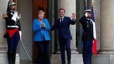 France's Macron, Germany's Merkel meet in Paris on world's crises, EU issues